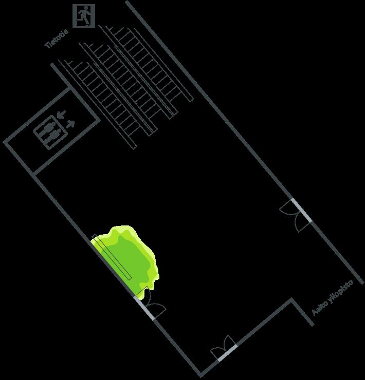 Yhdystunneli Tietotien aula