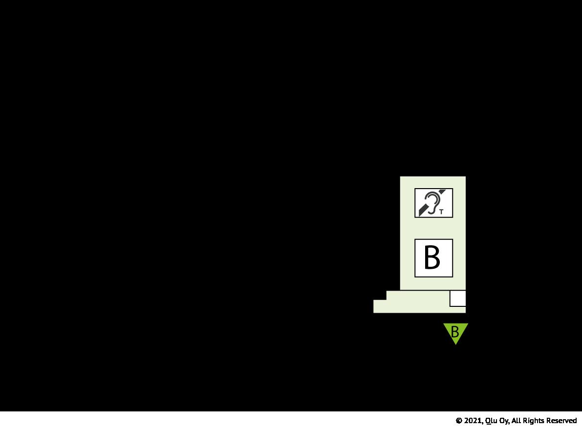 Yleisö sisäänkäynti (B)